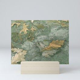 Leaves in Ice Mini Art Print
