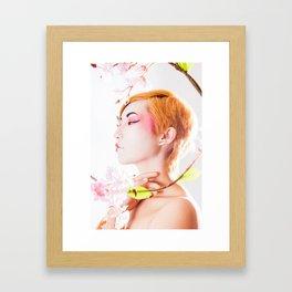 Geisha Portrait Framed Art Print