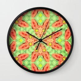 Sphynx Cat Pattern Wall Clock