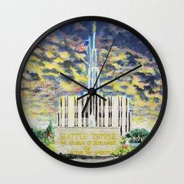 Seattle Washington LDS Temple Wall Clock