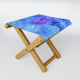 """Ocean Floor"" Painting Folding Stool"