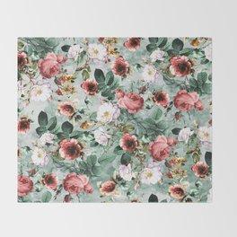 Rpe Seamless Floral Pattern I Throw Blanket
