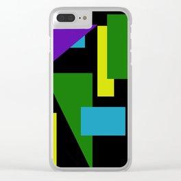 Geometric Tandem Clear iPhone Case