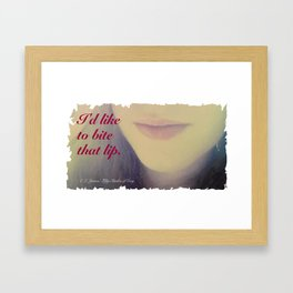 Fifty Shades of Grey Quote Framed Art Print
