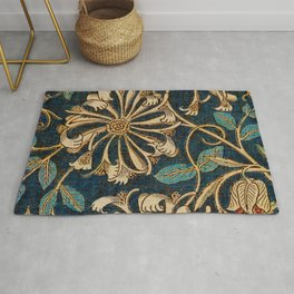 Honeysuckle (1876) by William Morris, Abstract II Poster Rug