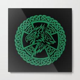 Celtic Hawk Metal Print