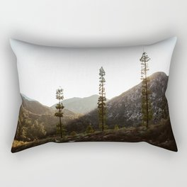 sunset in angeles crest forest Rectangular Pillow
