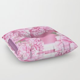 Pink Peonies In Frame #decor #society6 #buyart Floor Pillow