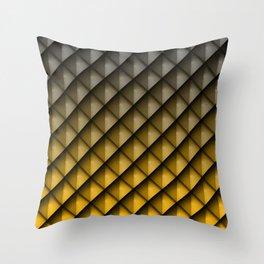 Draco Yellow Throw Pillow