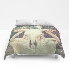 Bull Skull Tribal Woman Comforters