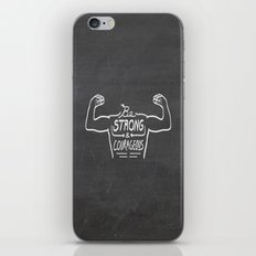 Be Strong & Courageous (White Version) iPhone & iPod Skin