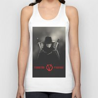 vendetta Tank Tops featuring V for Vendetta (e2) by Ezgi Kaya