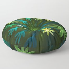 Fantasy Flowers, Fractal Art Floor Pillow