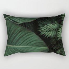 Tropical Beauty // Tropical Boho Leaves meets Minimalist Patterns Rectangular Pillow