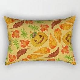 retro lovely jack-o-lantern pattern Rectangular Pillow