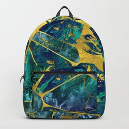 Lotus Flower on Gemstone Crystal Voronoi diagram Backpack
