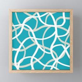 ABSTRACT LINES 001 Framed Mini Art Print