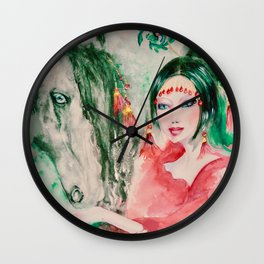 """horse whisperer"" Wall Clock"