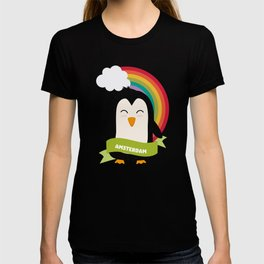 Penguin Rainbow from Amsterdam T-Shirt T-shirt