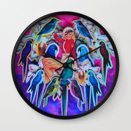Parrot Party Wall Clock