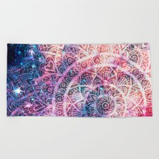 Space mandala 5 Beach Towel