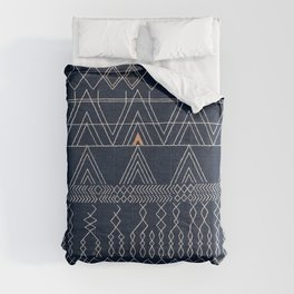 N53 - Blue Indigo Oriental Antique Traditional Moroccan Style Artwork Comforters