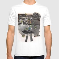 Strange Angels | Collage White MEDIUM Mens Fitted Tee