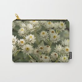 Pearly Everlasting Flowers Carry-All Pouch