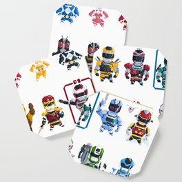 Nostalgic Retro gaming pixel tokusatsu sentai heroes. Coaster