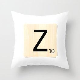 Scrabble Z Throw Pillow