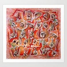 Sign Language Alphabet Art Print