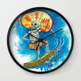 Taco Surfer Wall Clock