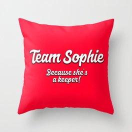 Team Sophie Throw Pillow