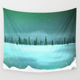 City winterscape Wall Tapestry