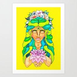 Pen and Ink Illustration - Meditation Art Print
