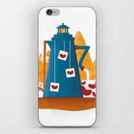 Tea Lighthouse iPhone Skin