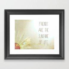 Sunshine & Friendship Framed Art Print