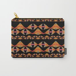 Polynesian Neo Tribal Ocean Fins Woven Pattern Carry-All Pouch