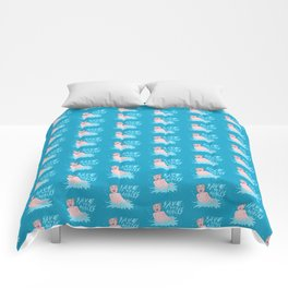 SAVE THE MALES Comforters