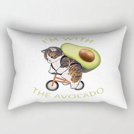 im with the avocado Rectangular Pillow