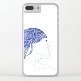 Tresses V Clear iPhone Case