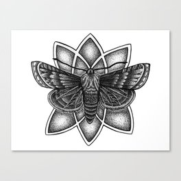 Moth Mandala Canvas Print