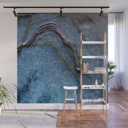 Blue Moonlight With Dark Ridges Wall Mural