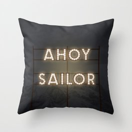 AHOY! Throw Pillow