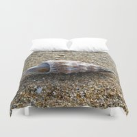 seashell Duvet Covers featuring Seashell by WonderfulDreamPicture