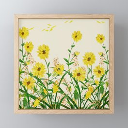 Yellow Wildflowers Framed Mini Art Print