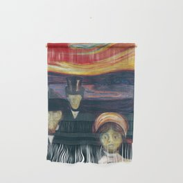 Anxiety by Edvard Munch Wall Hanging