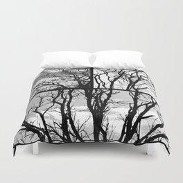 Black Tree Duvet Cover