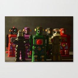 Robot Crew - Color Canvas Print
