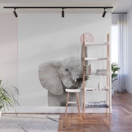 Bubble Gum Baby Elephant Wall Mural